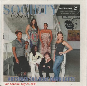 Niki Lopez on cover of Sun-Sentinl Society Scene