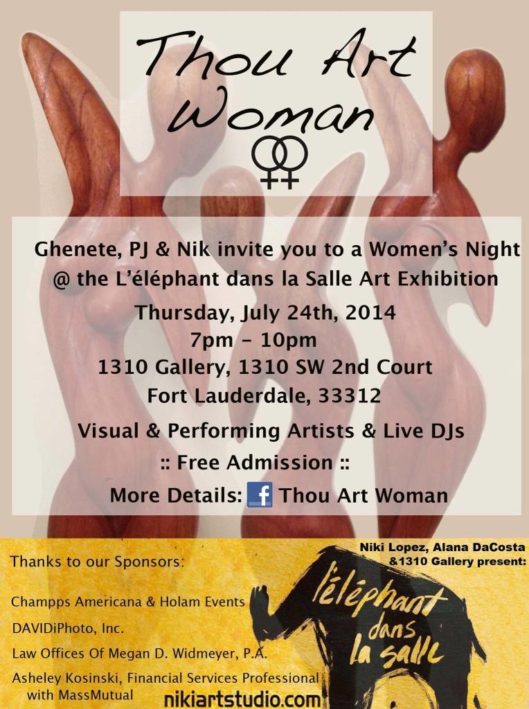 Thou Art Woman_at L'éléphant dans la Salle Art Exhibition